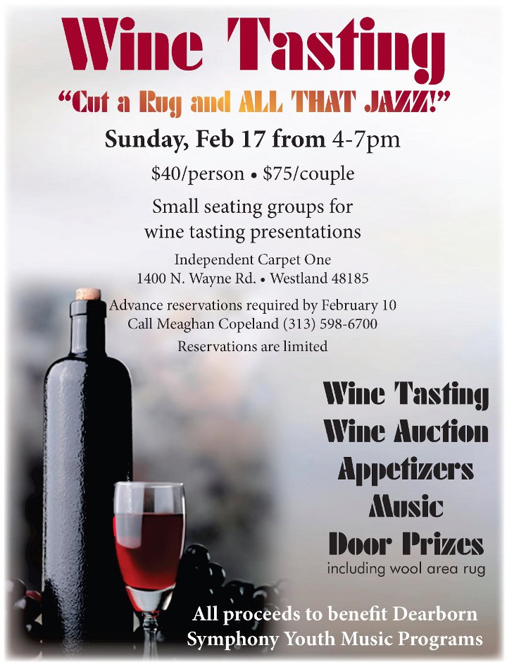 Friends Of The Dearborn Symphony Wine Tasting